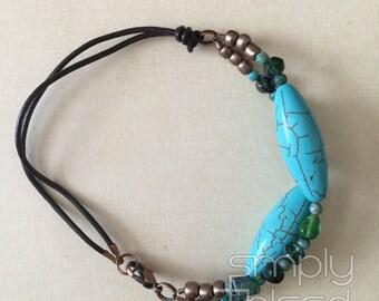 Turquoise Double Strand Bracelet