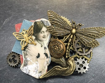 Lady Steampunk with dragonfly