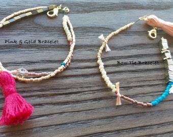 Pink Minimalist Bracelets