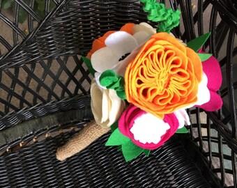 Handmade felt Flower Bouquet for weddings birthdays photo props