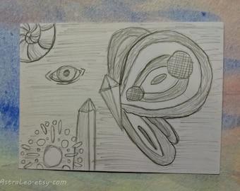Crystalline | Original Art | Artist Trading Card | ACEO Illustration