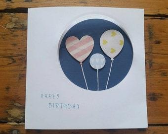 Birthday Card!! Balloon Greeting Card!! Happy Birthday