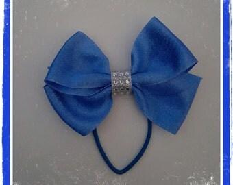 Blue Sparkle PonyTail Bow