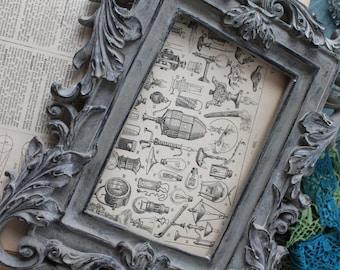 """Illustration """"L'éclairage"""" - Page d'un dictionnaire français Larousse ancien 1925 - Page Larousse 20X29cm /Affiche ancienne"""