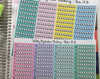 Hydration Tracking ECLP Mambi Inkwell Press Filofax Kikki K Happy Life Planner