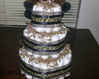 Moose diaper cake, 3 tier
