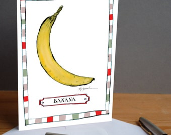 banana -  fun greeting card