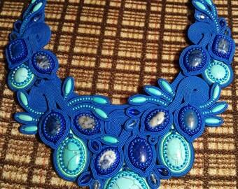 Soutache jewelry necklace