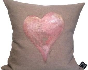 Hand Painted Heart Pillows