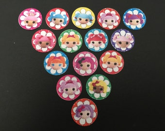 La La Loopsy Buttons Set of 15