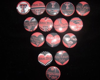 Texas Tech Red Raiders Buttons Set of 15