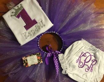 Crown Birthday Tutu Set
