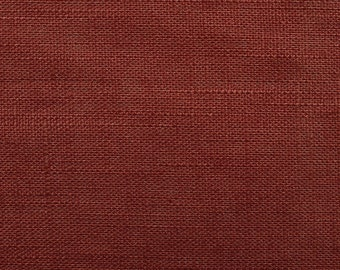 Linen natural - color: dark rust - 100% natural fiber - 0.5 m