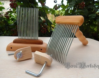 Hackle and Carding Comb/wool comb and blending hackle set #3