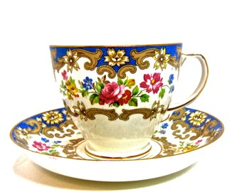 Old Royal China England 1846 hand marked gilt number 7859 Cup & Saucer.
