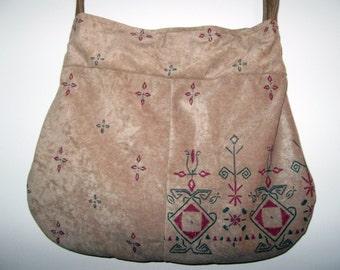Handbag velvet end and fabrics to cover