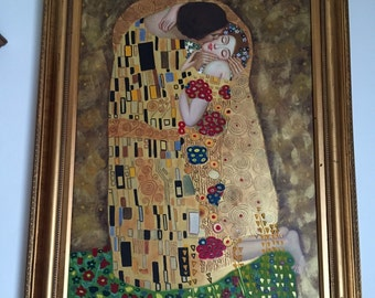 Painting The Kiss Klimt