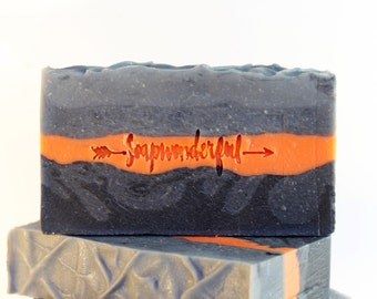 Greyscale Activated Charcoal Unscented Cold Process Soap Bar