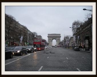 Paris Arc De Triomphe, Architecture Photography, Fine Art Print | Digital Download