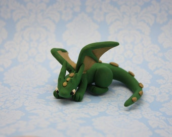 Miniature Dragon - Green and Gold