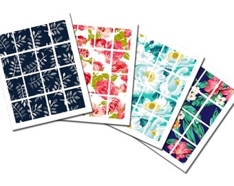 Pack 4 Full Boxes Erin Condren Floral