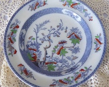 Antique Copeland Late Spode Plate, Indian Tree Pattern, Antique English Transferware, Transferware Plate