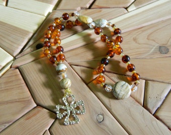 Protestant Rosary, Anglican/ Episcopal Rosary, Christian Rosary, 33 bead Rosary, OOAK, GloriChain, Jasper, repurposed, prayer beads