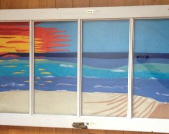 Vintage Window Frame Art