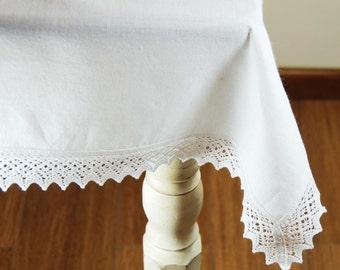 Linen tablecloth, Natural Linen Tablecloth, Table decoration