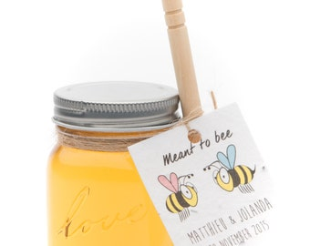 Wedding thank you note-Meant to BEE Honey