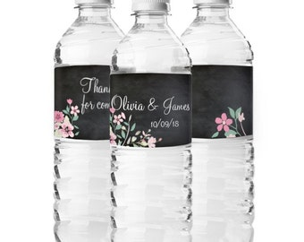 20 pcs Personalized Love Blooms Water Bottle Stickers (MICPLBWT20)