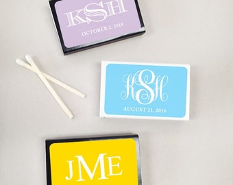 50 pcs Monogramed Personalized Matchboxes (MIC925746-2)
