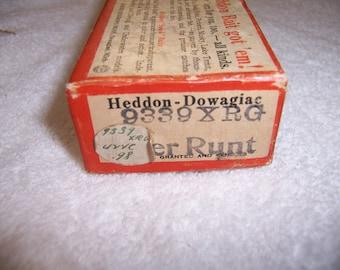 Vintage Heddon Box Marked 9339 XRG w/Extras