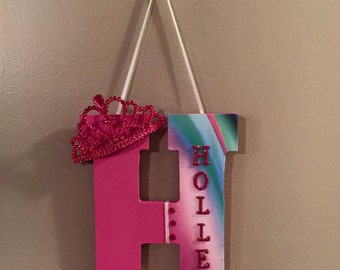 8 inch wooden letter