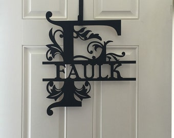 Personalized wood door or wall sign