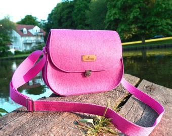 Purse - Saddle bag in Pink-Pink by marengu