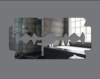 Acrylic 'Razor Blade' Safety Mirror - Range of Sizes