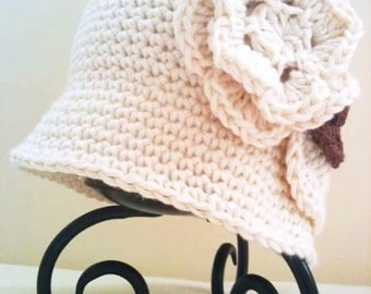 Crochet spring hat for woman/handmade hat