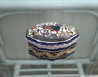 Mini Hand-Painted Ceramic Portuguese Box