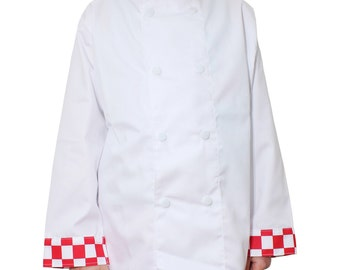 Professional Quality Kids Chef's Jackets in Various Sizes and Colours. Cooking Kit for The Junior Master Chef.