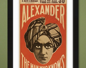 Alexander The Man Who Knows – US Library of Congress Archives (12x18 Heavyweight Art Print)