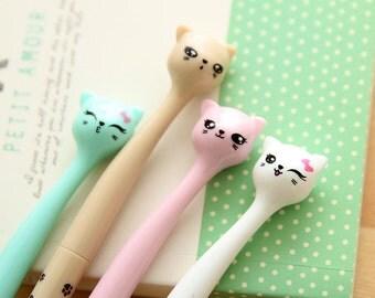 Cute Kitty Pens  / Cute Pens / School Supplies / Cat Pens / Kawaii Pens / Gel Pens / Kittens / Cute Stationery / Kitty / Office Supplies