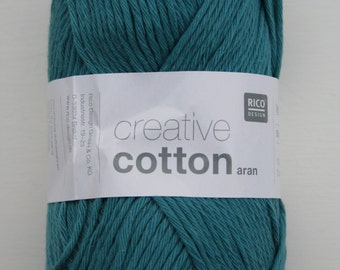 Rico Creative Cotton Aran Teal 047