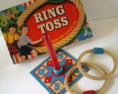 Fab Vintage Ring Toss GAME by Transogram Co...Made in USA...1947...Great Graphics...