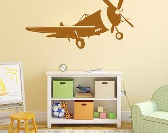 kik2322 Wall Decal Sticker plane air transport living room children's room