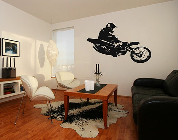 Motocross bedroom decor
