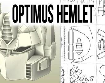 Optimus Prime Helmet Pepakura