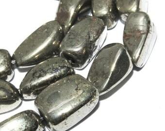 10-15mm pyrite nugget pirite pyrit natural gemstone bead 15inch