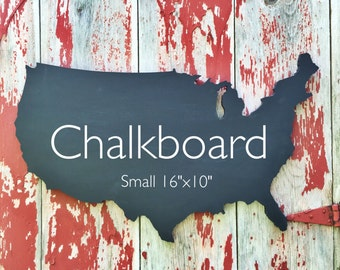 Chalkboard, United States Chalkboard, USA Wooden Map, USA Chalkboard, Wall Art, Other Sizes Available