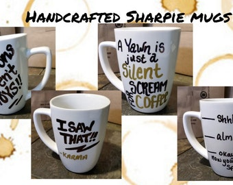 Sharpie Coffee Mugs Custom Made